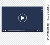 vector video player interface...
