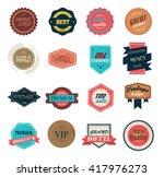vintage labels set   Shutterstock .eps vector #417976273