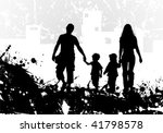 grunge background with family... | Shutterstock .eps vector #41798578