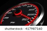 3d rendering of speedometer... | Shutterstock . vector #417987160