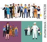 people different profession.... | Shutterstock .eps vector #417992128