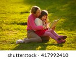 mother and young daughter...   Shutterstock . vector #417992410