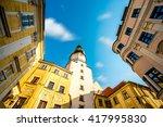 famous st. michaels watch tower ...   Shutterstock . vector #417995830