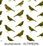 birds are drawn from a variety... | Shutterstock .eps vector #417998296