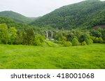 old bridge green mountain | Shutterstock . vector #418001068