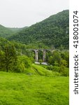old bridge green mountain | Shutterstock . vector #418001074
