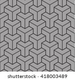 geometric background  line... | Shutterstock .eps vector #418003489