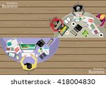vector workplace businessman... | Shutterstock .eps vector #418004830