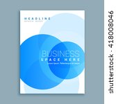 business cover page brochure...   Shutterstock .eps vector #418008046