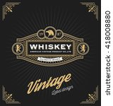 vintage frame design for labels ... | Shutterstock .eps vector #418008880