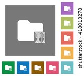 archive folder flat icon set on ...
