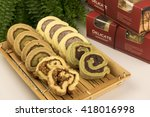 flavors of cake roll | Shutterstock . vector #418016998