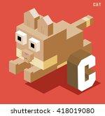 C For Cat. Animal Alphabet...