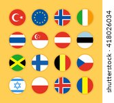 set of circle flag icons flat...   Shutterstock .eps vector #418026034