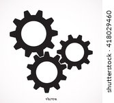 growing gears  | Shutterstock .eps vector #418029460