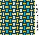 seamless decorative vector... | Shutterstock .eps vector #418032169