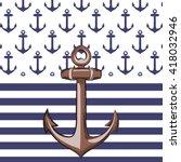 nautical or marine themed...   Shutterstock .eps vector #418032946