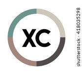 xc letters  four colors in... | Shutterstock .eps vector #418035298