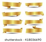 banner ribbon vector set | Shutterstock .eps vector #418036690