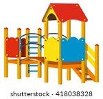 playground for children. vector ... | Shutterstock .eps vector #418038328