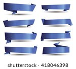 banner ribbon vector set | Shutterstock .eps vector #418046398