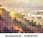 abstract square pixel mosaic... | Shutterstock .eps vector #41805292