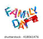 family day. may 15. holiday card | Shutterstock .eps vector #418061476