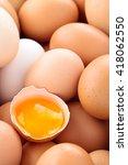 close up shot of fresh chicken... | Shutterstock . vector #418062550