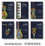 set of musical ornament... | Shutterstock .eps vector #418062664