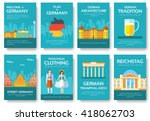set of germany country ornament ... | Shutterstock .eps vector #418062703