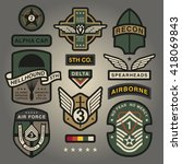 set of military and army... | Shutterstock .eps vector #418069843