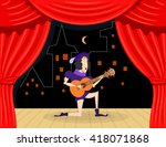 Scene Performance With Singer...