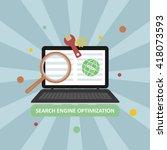 search engine optimization... | Shutterstock .eps vector #418073593