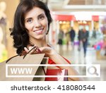 young woman holding shopping