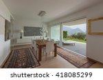interiors of new apartment ... | Shutterstock . vector #418085299