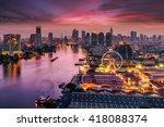bangkok cityscape. bangkok... | Shutterstock . vector #418088374