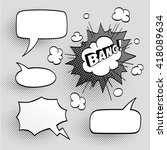 set of speech comic bubbles.... | Shutterstock .eps vector #418089634