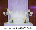 luxurious banquet hall | Shutterstock . vector #418090696