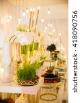 luxurious banquet hall | Shutterstock . vector #418090756