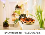 luxurious banquet hall | Shutterstock . vector #418090786