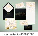 wedding marble textured... | Shutterstock .eps vector #418091800