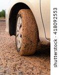 Mud With Car Wheel   A Muddy...