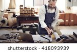 carpenter craftmanship... | Shutterstock . vector #418093939
