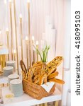 luxury wedding banquet | Shutterstock . vector #418095103