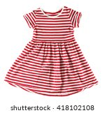 baby dress  isolated on white