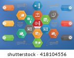database networking concept... | Shutterstock .eps vector #418104556