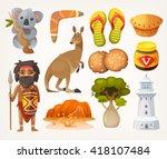 set of animals  people ... | Shutterstock .eps vector #418107484