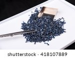 raw  uncut and rough blue... | Shutterstock . vector #418107889