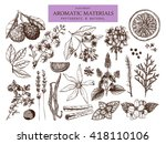vector collection of  hand... | Shutterstock .eps vector #418110106