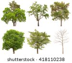 collection of isolated tree on... | Shutterstock . vector #418110238